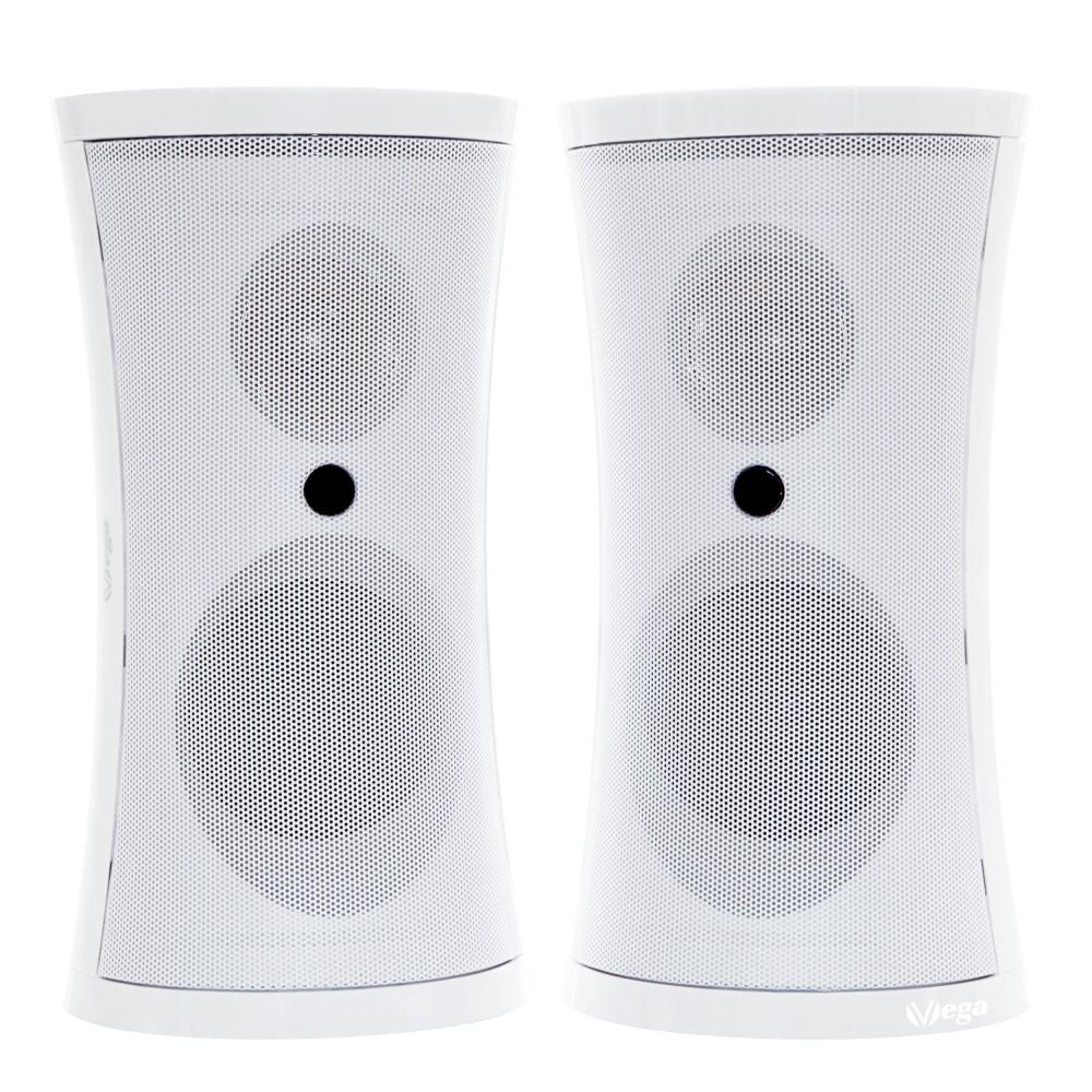 exklusives vega funk lautsprecher set mit fernbedienung und sattem stereo sound f r draussen. Black Bedroom Furniture Sets. Home Design Ideas